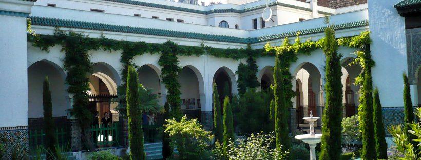 Paris Great Mosque courtyard
