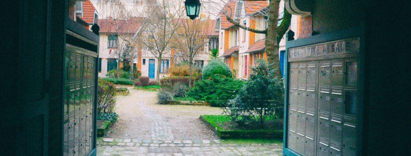 Entrance of Petite Alsace in Paris