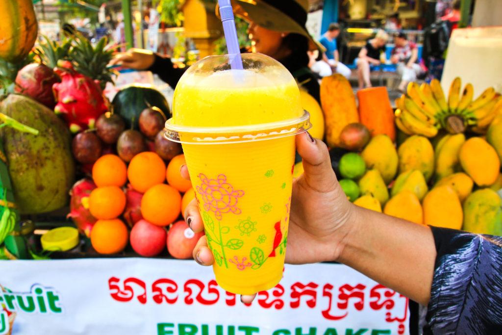 Fruit Shake Stall in Cambodia