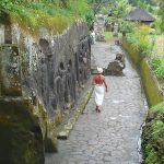 Bali : Yeh Puluh's life-size rock carvings and sacred spring, close to Ubud