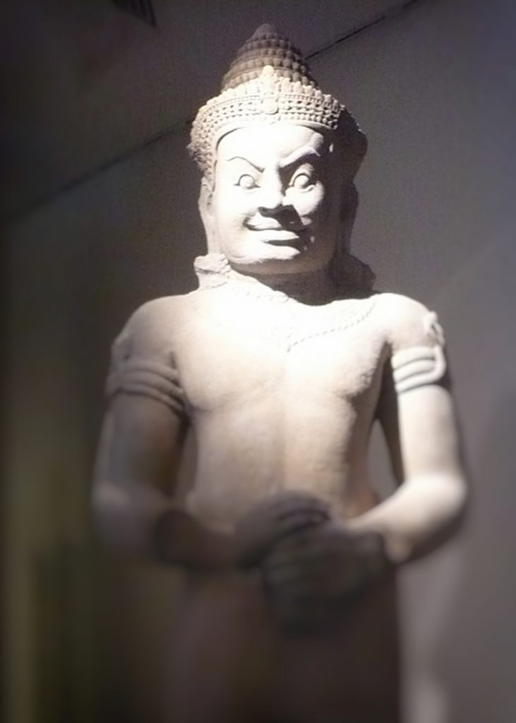 Khmer Temple Guardian at Musee Guimet in Paris