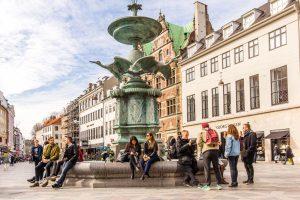 Stork Fountain Amagertorv in Copenhagen