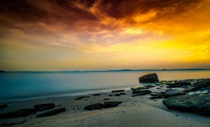 Singapore Beach Sunset