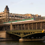 Taking Paris Line 6 Aerial Métro from East to West