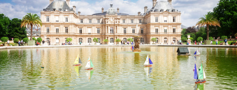 Senate and Sailboats at Jardin du Luxembourg in Paris