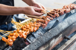 Meat Skewers in Cambodia
