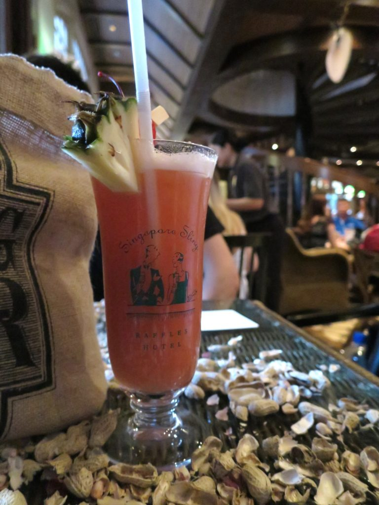 Singapore Sling at the Raffles Long Bar