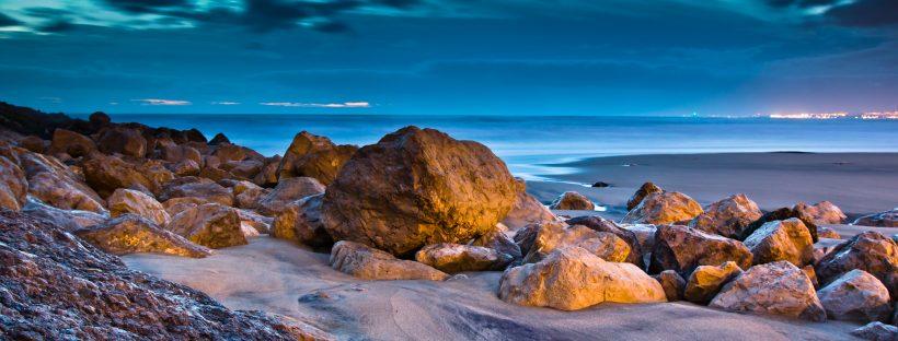 Caparica beach sunset
