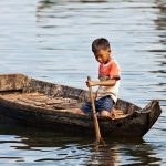 Fishing on Cambodia's Tonle Sap Lake