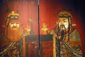 Peranakan Gods Wooden Panel
