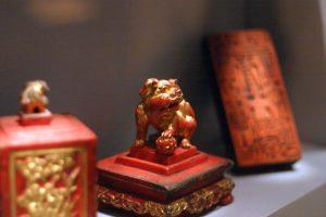 Peranakan lion figurine
